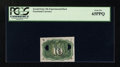 Fractional Currency:Second Issue, 10c Second Issue Experimental PCGS Gem New 65PPQ....