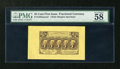 Fractional Currency:First Issue, Fr. 1282SP Wide Margin Face 25c First Issue PMG Choice About Unc 58....