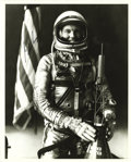 Explorers:Space Exploration, Gordon Cooper Signed Black & White Photograph....