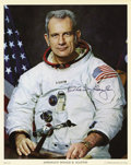 Explorers:Space Exploration, Deke Slayton Signed Photo....