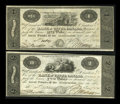 Canadian Currency: , Kingston, UC- Bank of Upper Canada $1, $2 Jan. 1, 1820 Ch. #765-12-02, 765-12-04. ...