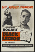 """Movie Posters:Crime, Black Legion (Warner Brothers, R-1950s). One Sheet (27"""" X 41"""").Crime...."""