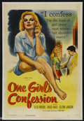 "Movie Posters:Bad Girl, One Girl's Confession (Columbia, 1953). One Sheet (27"" X 41""). BadGirl...."