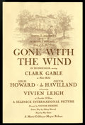 "Movie Posters:Academy Award Winner, Gone with the Wind (MGM, 1939). Players Program (6.25"" X 9.5"").Academy Award Winner...."