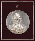Decorative Arts, Continental, Repoussé Silver-Plated Copper Portrait of Catherine theGreat . Circa 1770, signed JB Nini F after an original te...