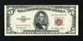 """Small Size:Legal Tender Notes, Fr. 1532 $5 1953 Legal Tender """"Radar"""" Note. Extremely Fine-About Uncirculated.. ..."""