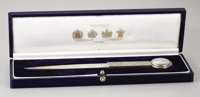 Princess Diana Silver Presentation Paper Knife London, circa 1990, maker's mark AGB  Of typical form, the tapered po
