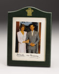 Royal Memorabilia:British, Prince of Wales Presentation Frame with Signed Original Photographof Prince Charles and Princess Diana. Signed Diana...