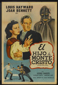 "Movie Posters:Adventure, The Son of Monte Cristo (United Artists, 1940). Argentinean Poster(29"" X 43""). Adventure...."