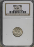 Barber Dimes: , 1905-S 10C MS64 NGC. NGC Census: (25/15). PCGS Population (51/26).Mintage: 6,855,199. Numismedia Wsl. Price for NGC/PCGS c...