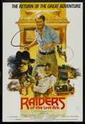 "Movie Posters:Adventure, Raiders of the Lost Ark (Cinema International Corporation, R-1982).International One Sheet (27"" X 40""). Adventure...."