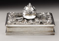 Silver Smalls:Other , Imperial Austro-Hungarian Silver Military Inkwell. Circa 1890,stamped with Austrian hallmarks. On a rectangular silve...
