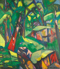 Paintings, BRUNO KRAUSKOPF (German, 1892-1960). Jungle Interior. Oil on canvas. 37 x 32 inches (94.0 x 81.3 cm). Signed lower right...