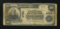 National Bank Notes:Kansas, Cherryvale, KS - $10 1902 Plain Back Fr. 628 The Montgomery County NB Ch. # 4749. ...