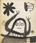 Prints, After JOÁN MIRÓ (Spanish, 1893-1983). His Graphic Work, 1958. Book with color lithograph plates on paper. 12-3/4 x 10-3/...