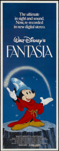 "Movie Posters:Animated, Fantasia (Buena Vista, R-1982). Insert (14"" X 36""). Animated...."