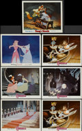 "Movie Posters:Animated, Cinderella Lot (Buena Vista, R-1981). Lobby Cards (7) (11"" X 14""). Animated.... (Total: 7 Items)"
