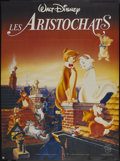 "Movie Posters:Animated, The Aristocats (Buena Vista, R-1980s). French Grande (46"" X 62"").Animated...."