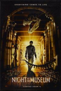 """Night at the Museum (20th Century Fox, 2006). One Sheet (27"""" X 40"""") DS Advance. Comedy"""