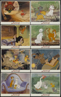 """Movie Posters:Animated, The Aristocats (Buena Vista, R-1980s). Lobby Cards (8) (11"""" X 14"""").Animated.... (Total: 8 Items)"""