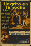 """Movie Posters:Crime, A Cry in the Night (Warner Brothers, 1956). Argentinean Poster (29"""" X 43""""). Crime...."""
