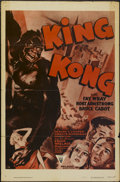 """Movie Posters:Horror, King Kong (RKO, R-1952). One Sheet (27"""" X 41"""") Style A. Horror...."""