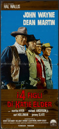 "Movie Posters:Western, The Sons of Katie Elder (Paramount, 1965). Italian Locandina (12"" X27""). Western...."