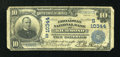 National Bank Notes:Virginia, Richmond, VA - $10 1902 Plain Back Fr. 629 The Broadway NB Ch. #(S)10344. ...