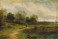 Fine Art - Painting, European:Antique  (Pre 1900), H. W. REED. Herding the Sheep. Oil on canvas. 20 x 30 inches(50.8 x 76.2 cm). Signed lower right: H.W. Reed. ...