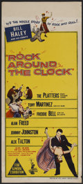 "Movie Posters:Rock and Roll, Rock Around the Clock (Columbia, 1956). Australian Daybill (13"" X30""). Rock and Roll...."
