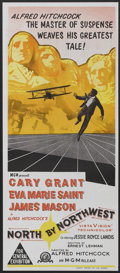 """Movie Posters:Hitchcock, North by Northwest (MGM, R-1966). Australian Daybill (13"""" X 30""""). Hitchcock...."""