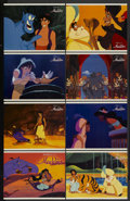 """Movie Posters:Animated, Aladdin (Buena Vista, 1992). Lobby Card Set of 8 (11"""" X 14""""). Animated.... (Total: 8 Items)"""