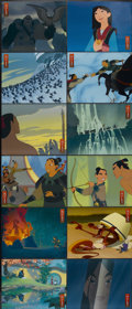 "Movie Posters:Animated, Mulan (Buena Vista, 1998). Lobby Card Set of 12 (11"" X 14""). Animated.... (Total: 12 Items)"