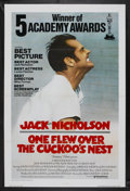"Movie Posters:Academy Award Winner, One Flew Over the Cuckoo's Nest (United Artists, 1975).International One Sheet (27"" X 41"") Tri-Folded, Academy AwardsStyle..."