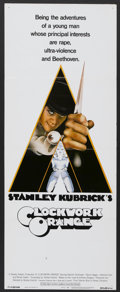 "Movie Posters:Science Fiction, A Clockwork Orange (Warner Brothers, 1972). Insert (14"" X 36"").Science Fiction...."