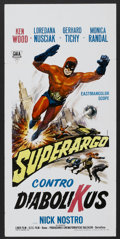 "Movie Posters:Adventure, Superargo Versus Diabolicus (Gala, 1966). Italian Locandina (13"" X27.5""). Adventure...."