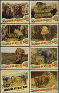 "Movie Posters:Documentary, Wild Beasts at Bay (Cosmopolitan, 1947). Lobby Card Set of 8 (11"" X 14""). Documentary.... (Total: 8 Items)"