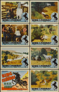 "Movie Posters:Western, King of the Sierras (Grand National, 1938). Lobby Card Set of 8 (11"" X 14""). Western.... (Total: 8 Items)"