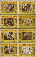 """Movie Posters:Comedy, The Good Old Days (Various, 1940s). Lobby Card Set of 8 (11"""" X 14""""). Comedy.... (Total: 8 Items)"""