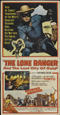 """Movie Posters:Western, The Lone Ranger and the Lost City of Gold (United Artists, 1958). Three Sheet (41"""" X 81""""). Western...."""