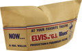 Music Memorabilia:Memorabilia, Elvis Presley G.I. Blues Promotional Paper Hat. A vintagebrown paper garrison cap promoting both the G. I. Bl... (Total:1 Item)