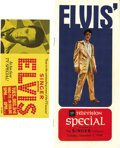 Music Memorabilia:Memorabilia, Elvis Presley Comeback Special In-Store Brochure and Handout(Singer, 1968). Elvis' first big television appear... (Total: 2Item)