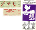 Music Memorabilia:Tickets, Woodstock Unused Ticket and Program Group (1969). It's the concertevent that helped define a generation -- the three-day A... (Total:3 Item)