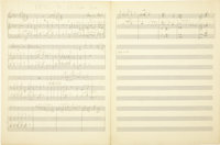"Duke Ellington ""Between the Devil and the Deep Blue Sea,"" Three-Page Hand Written Score (undated). One of Amer..."