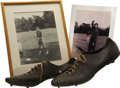 Movie/TV Memorabilia:Memorabilia, Buddy Ebsen's Baseball Shoes, Bought by Eddie Cantor to Play on theWhoopee! Baseball Team, 1928. A pair of Budd... (Total: 1Item)