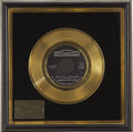 Music Memorabilia:Awards, Larry Knechtel Monday, Monday Gold Single Award. Presented to session musician Larry Knechtel, who played keyboards on t... (Total: 1 Item)