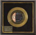 Music Memorabilia:Awards, Larry Knechtel Aquarius Gold Single Award. Once again thesought-after studio musician helped take a song to #1 -- this ...(Total: 1 Item)