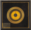Music Memorabilia:Awards, Larry Knechtel Never My Love Gold Single Award. One of the staples of Oldies radio was the great 1967 single by the Asso... (Total: 1 Item)