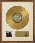 Music Memorabilia:Awards, Larry Knechtel On the Waters RIAA Gold Album Award. BeforeLarry became a member of the band Bread, he worked wi... (Total: 1Item)