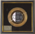 Music Memorabilia:Awards, Larry Knechtel Up - Up and Away Gold Single Award. JohnnyRivers produced it, the Fifth Dimension made it their first To...(Total: 1 Item)